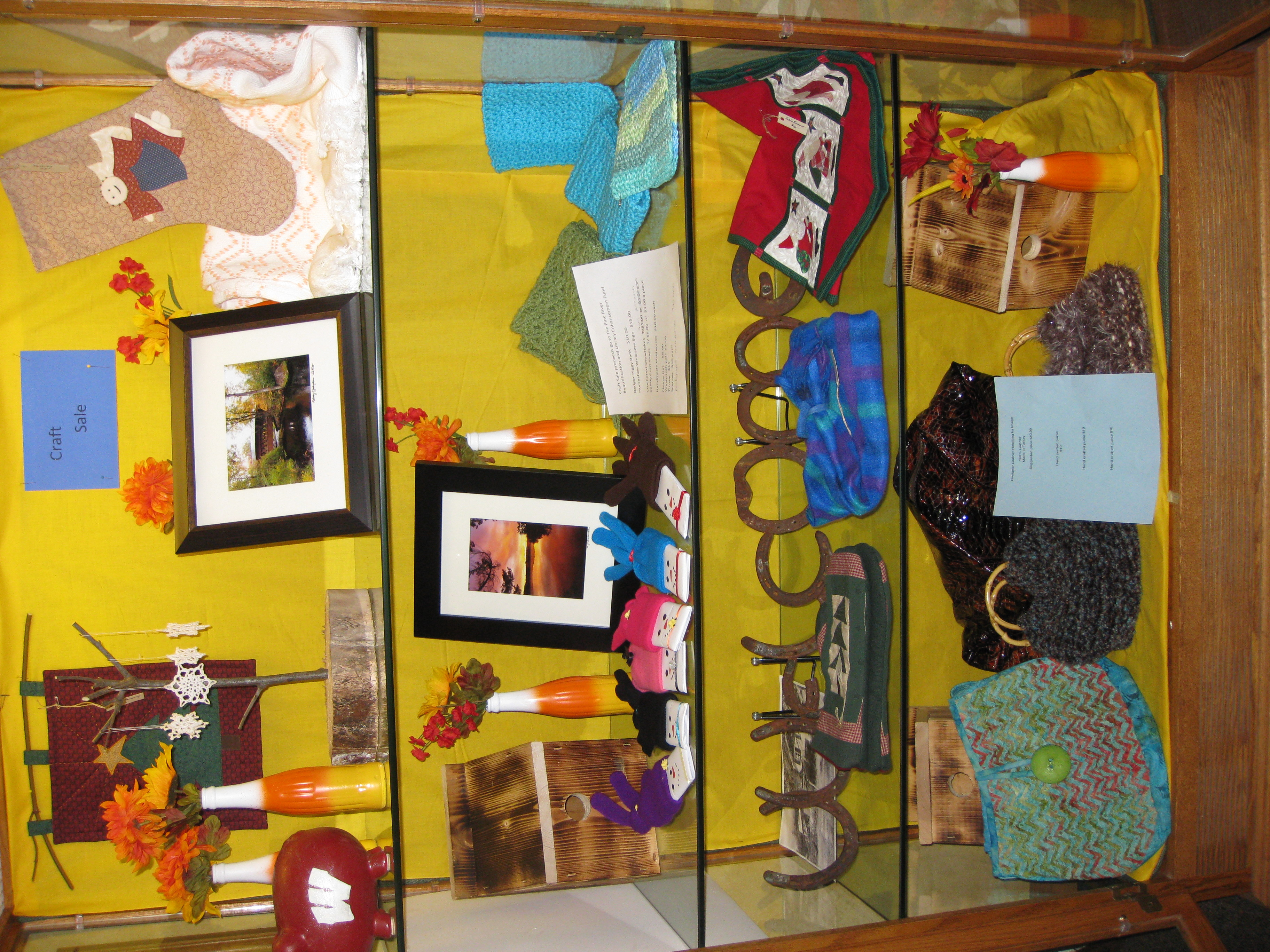 Crafts For Sale at the Library
